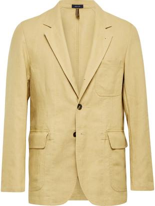 Drakes Unstructured Linen Suit Jacket