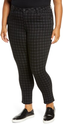 Wit & Wisdom Ab-Solution Houndstooth Ankle Skinny Pants