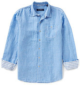 Tommy Bahama Long-Sleeve Sand Linen Check Woven Shirt