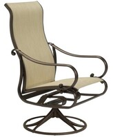 Sonora Tropitone Radiance Swivel Patio Dining Chair Tropitone Frame Color: Sonora, Fabric: East Wood