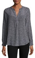 Joie Peterson Long-Sleeve Silk Top, Black