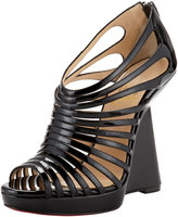 Christian Louboutin Disco Queen Patent Cage Wedge