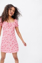 Thumbnail for your product : Glamorous Cherry Puff Sleeve Mini Dress