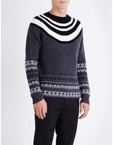 Neil Barrett Fairisle Striped Knitted Jumper