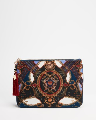 Camilla Women's Blue Clutches - Small Canvas Clutch - Size One Size at The Iconic