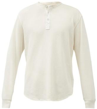 Rag & Bone Baron Cotton-pique Henley Shirt - Cream