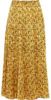 Sonia Rykiel Printed Silk-Satin Midi Skirt