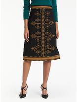 Boden Lilian Skirt, Black/Brass