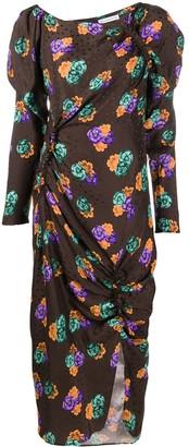 REJINA PYO Asymmetric Floral-Print Midi Dress