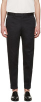 Paul Smith Black Pleated Trousers