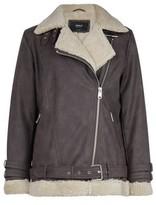 Dorothy Perkins Womens Only Brown Biker Jacket, Brown