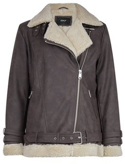 Dorothy Perkins Womens Only Brown Biker Jacket, Brown