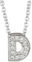 """Nadri Pave """"D"""" Initial Pendant Necklace"""