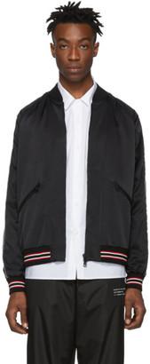 MONCLER GENIUS 7 Moncler Fragment Hiroshi Fujiwara Black Trance Bomber Jacket