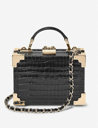 Aspinal of London Micro Trunk leather clutch bag