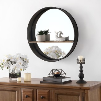 "Safavieh Bonni 27-inch Round Wall Accent Mirror with Shelf - 24"" x 4"" x 24"""
