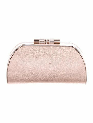 Versace Metallic Leather Clutch Metallic