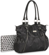 Carter's Double Zip Front Fashion Tote Diaper Bag in Black