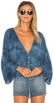 Blue Life Maia Coconut Top in Blue. - size M (also in S,XS)