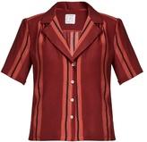 Stella Jean Lunatica striped silk shirt