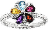 Simply Stacks Sterling Multi-Gemstone Flower Ring