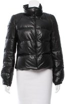 Torn By Ronny Kobo Leather Puffer Jacket