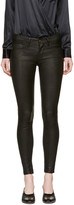 Frame Black Leather le Skinny De Jeanne Pants