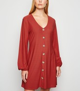 New Look Cameo Rose Button Front Dress