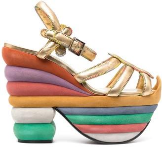 Salvatore Ferragamo Rainbow 85mm wedge sandals
