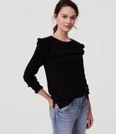 LOFT Ruffle Yoke Sweater