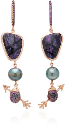 Daniela Villegas 18K Rose Gold Multi-Stone Earrings