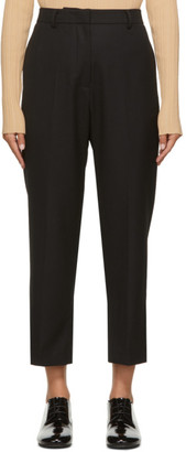 Arch The Black Cropped Wool Trousers