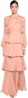 DSQUARED2 Ruffled Silk Chiffon Dress
