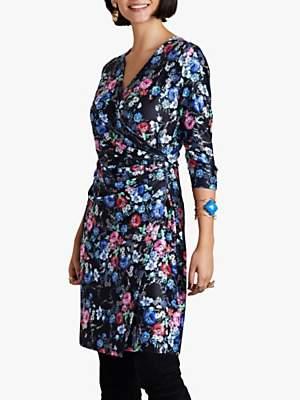 Yumi Midnight Daisy Wrap Dress, Black