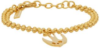 McQ Gold Swallow Skull Bracelet