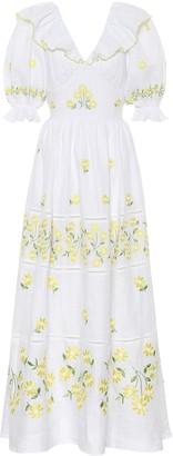 Gül Hürgel Floral linen maxi dress