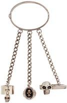 Alexander McQueen Skull ring chain bracelet