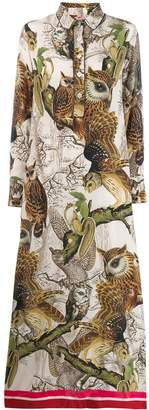 F.R.S For Restless Sleepers owl print maxi dress