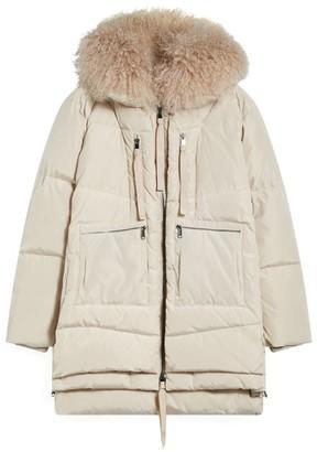 Max & Co. Fur-Trim Quilted Coat