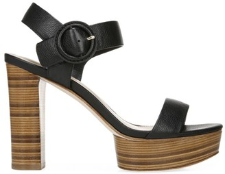 Via Spiga Ira Leather Platform Sandals