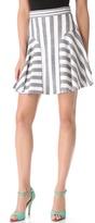 Kylie Stripe Flounce Skirt