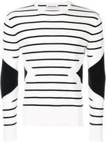 Neil Barrett striped and geometric jumper