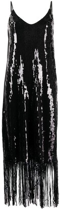 In The Mood For Love Doris fringed sequin dress