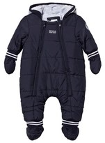 BOSS Navy Padded Snowsuit with Detachable Mittens