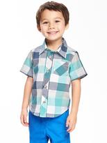 Old Navy Buffalo-Plaid Shirt for Toddler Boys