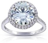 Kobelli Jewelry 3 1/3 CT TW Forever Classic Moissanite and Diamond 14K Gold Round Cut Engagement Ring