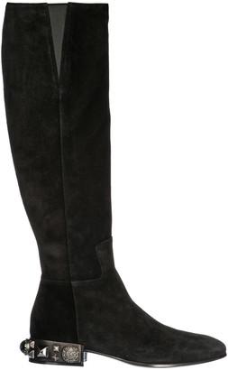 Dolce & Gabbana Studded Heel Knee High Boots
