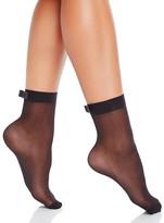 Kate Spade Oversized Satin Bow Sheer Anklet Socks