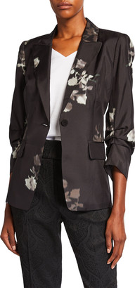 Kobi Halperin Claudia Floral Gathered Sleeve Jacket