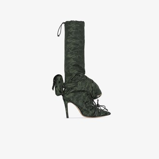Christian Stone Green Geisha 110 backpack camouflage boots